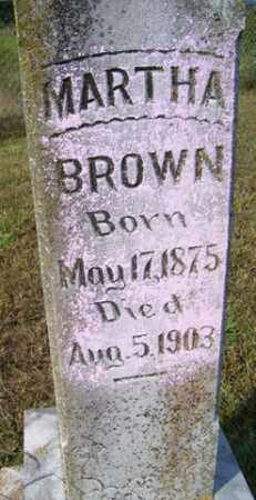 BROWN, MARTHA - Franklin County, Arkansas | MARTHA BROWN - Arkansas Gravestone Photos