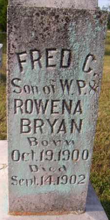 BRYAN, FRED C - Franklin County, Arkansas | FRED C BRYAN - Arkansas Gravestone Photos