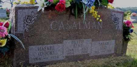 WHITE CASALMAN, SARAH - Franklin County, Arkansas | SARAH WHITE CASALMAN - Arkansas Gravestone Photos