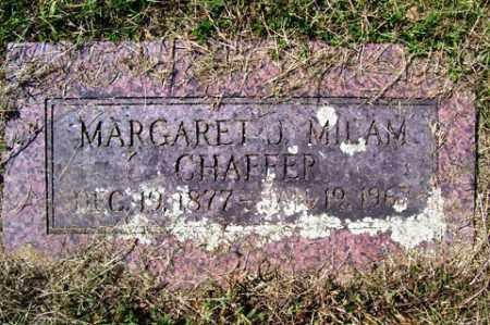 MILAM CHAFFER, MARGARET J. - Franklin County, Arkansas   MARGARET J. MILAM CHAFFER - Arkansas Gravestone Photos