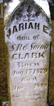 CLARK, JARIAH E - Franklin County, Arkansas   JARIAH E CLARK - Arkansas Gravestone Photos