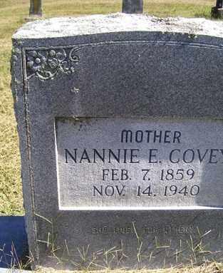COVEY, NANNIE E - Franklin County, Arkansas | NANNIE E COVEY - Arkansas Gravestone Photos