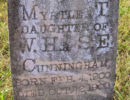 CUNNINGHAM, MYRTLE T. - Franklin County, Arkansas | MYRTLE T. CUNNINGHAM - Arkansas Gravestone Photos
