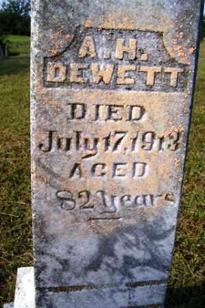 DEWETT, A. H. - Franklin County, Arkansas | A. H. DEWETT - Arkansas Gravestone Photos