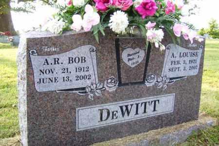 "DEWITT, A. R. ""BOB"" - Franklin County, Arkansas | A. R. ""BOB"" DEWITT - Arkansas Gravestone Photos"
