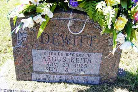 DEWITT, ARGUS KEITH - Franklin County, Arkansas | ARGUS KEITH DEWITT - Arkansas Gravestone Photos