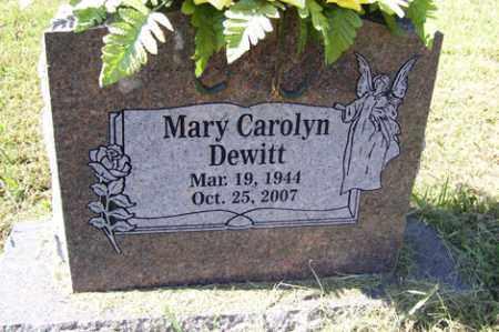 DEWITT, MARY CAROLYN - Franklin County, Arkansas   MARY CAROLYN DEWITT - Arkansas Gravestone Photos