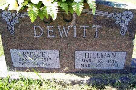 DEWITT, RHEUE JANE - Franklin County, Arkansas | RHEUE JANE DEWITT - Arkansas Gravestone Photos