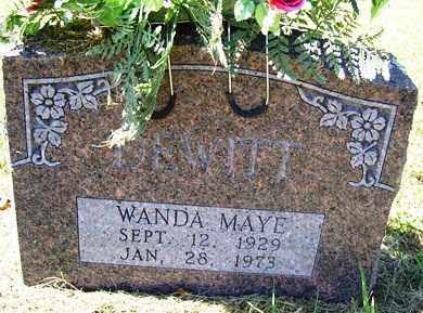 DEWITT, WANDA MAYE - Franklin County, Arkansas   WANDA MAYE DEWITT - Arkansas Gravestone Photos