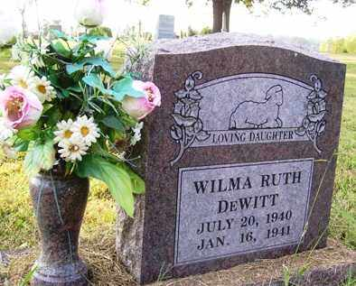 DEWITT, WILMA RUTH - Franklin County, Arkansas | WILMA RUTH DEWITT - Arkansas Gravestone Photos