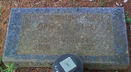 DICK, OPHLLIA - Franklin County, Arkansas | OPHLLIA DICK - Arkansas Gravestone Photos