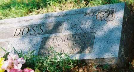 WAITE DOSS, SARAH ANN - Franklin County, Arkansas   SARAH ANN WAITE DOSS - Arkansas Gravestone Photos