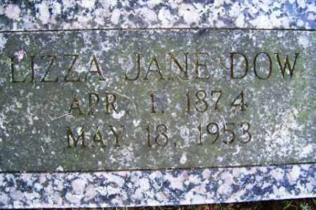 DOW, LIZZA JANE - Franklin County, Arkansas   LIZZA JANE DOW - Arkansas Gravestone Photos