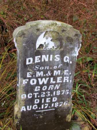 FOWLER, DENIS G - Franklin County, Arkansas | DENIS G FOWLER - Arkansas Gravestone Photos