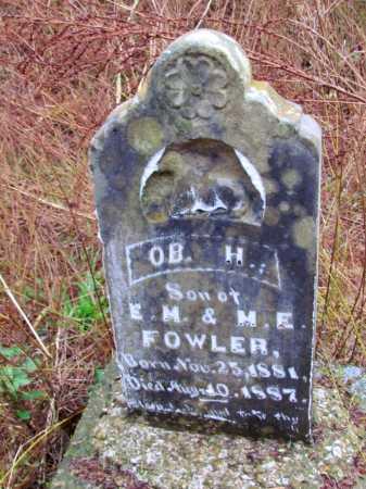 FOWLER, O B  H - Franklin County, Arkansas   O B  H FOWLER - Arkansas Gravestone Photos