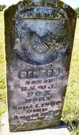 FOX, DENTON - Franklin County, Arkansas   DENTON FOX - Arkansas Gravestone Photos