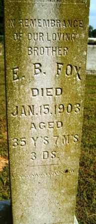 FOX, E  B - Franklin County, Arkansas   E  B FOX - Arkansas Gravestone Photos