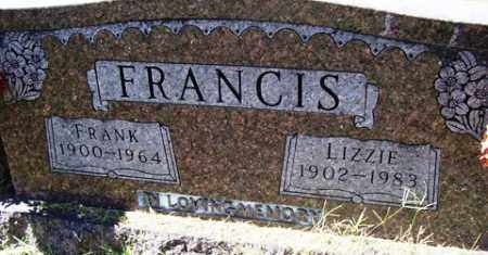 FRANCIS, LIZZIE - Franklin County, Arkansas | LIZZIE FRANCIS - Arkansas Gravestone Photos