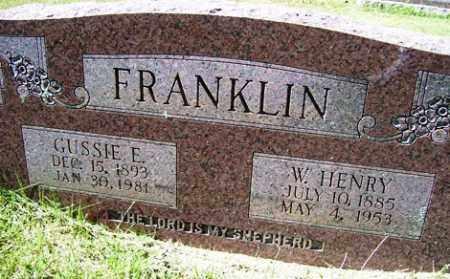 FRANKLIN, GUSSIE E. - Franklin County, Arkansas | GUSSIE E. FRANKLIN - Arkansas Gravestone Photos