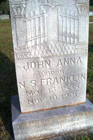 FRANKLIN, JOHN ANNA - Franklin County, Arkansas | JOHN ANNA FRANKLIN - Arkansas Gravestone Photos