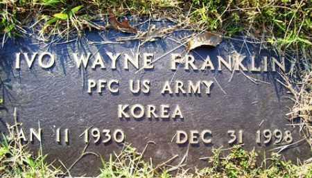 FRANKLIN (VETERAN KOR), IVO WAYNE - Franklin County, Arkansas | IVO WAYNE FRANKLIN (VETERAN KOR) - Arkansas Gravestone Photos