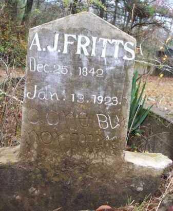 FRITTS, A J - Franklin County, Arkansas | A J FRITTS - Arkansas Gravestone Photos