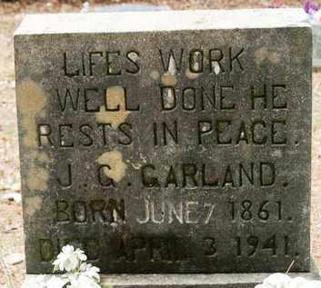 GARLAND, J G - Franklin County, Arkansas   J G GARLAND - Arkansas Gravestone Photos