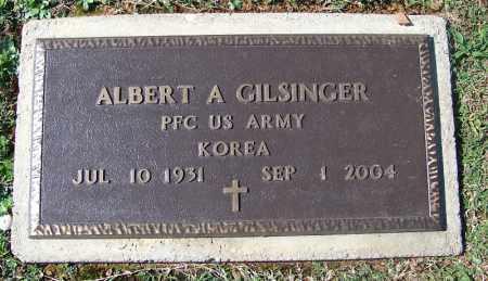 GILSINGER (VETERAN KOR), ALBERT A - Franklin County, Arkansas | ALBERT A GILSINGER (VETERAN KOR) - Arkansas Gravestone Photos