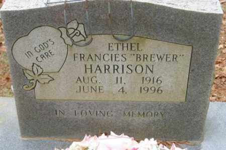 BREWER HARRISON, ETHEL FRANCIES - Franklin County, Arkansas   ETHEL FRANCIES BREWER HARRISON - Arkansas Gravestone Photos