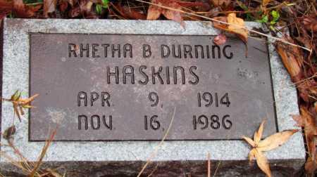 DURNING HASKINS, RHETHA B. - Franklin County, Arkansas | RHETHA B. DURNING HASKINS - Arkansas Gravestone Photos