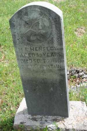HENSLEY, M.E. - Franklin County, Arkansas | M.E. HENSLEY - Arkansas Gravestone Photos