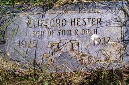 HESTER, CLIFFORD - Franklin County, Arkansas   CLIFFORD HESTER - Arkansas Gravestone Photos