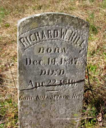 HILL, RICHARD W - Franklin County, Arkansas | RICHARD W HILL - Arkansas Gravestone Photos