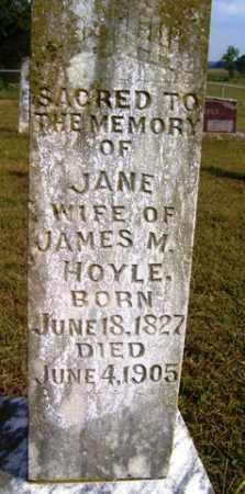 HOYLE, JANE - Franklin County, Arkansas | JANE HOYLE - Arkansas Gravestone Photos