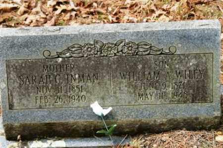 INMAN, SARAH C - Franklin County, Arkansas   SARAH C INMAN - Arkansas Gravestone Photos