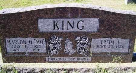 """KING, MARON O  """"MO"""" - Franklin County, Arkansas   MARON O  """"MO"""" KING - Arkansas Gravestone Photos"""