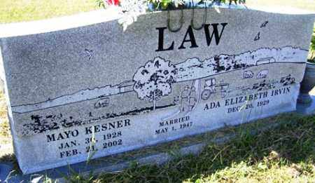LAW, MAYO KESNER - Franklin County, Arkansas | MAYO KESNER LAW - Arkansas Gravestone Photos