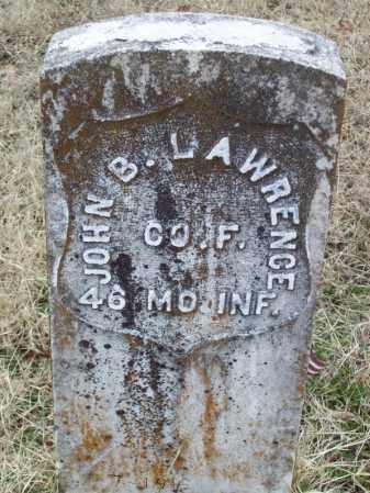 LAWRENCE (VETERAN UNION), JOHN B - Franklin County, Arkansas | JOHN B LAWRENCE (VETERAN UNION) - Arkansas Gravestone Photos