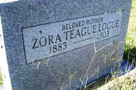 LOGUE, ZORA - Franklin County, Arkansas | ZORA LOGUE - Arkansas Gravestone Photos