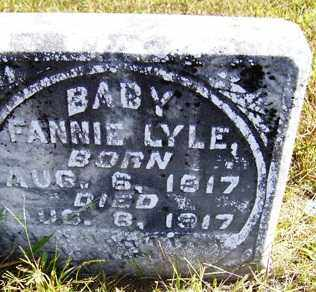LYLE, FANNIE - Franklin County, Arkansas | FANNIE LYLE - Arkansas Gravestone Photos