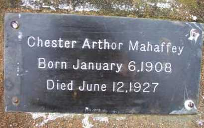 MAHAFFEY, CHESTER ARTHOR - Franklin County, Arkansas | CHESTER ARTHOR MAHAFFEY - Arkansas Gravestone Photos