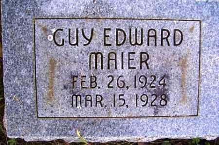 MAIER, GUY EDWARD - Franklin County, Arkansas | GUY EDWARD MAIER - Arkansas Gravestone Photos