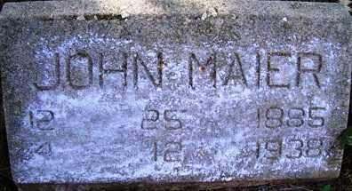 MAIER, JOHN - Franklin County, Arkansas | JOHN MAIER - Arkansas Gravestone Photos