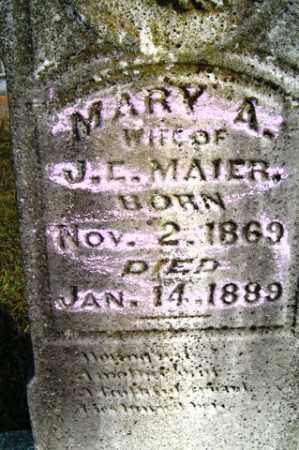 MAIER, MARY A - Franklin County, Arkansas | MARY A MAIER - Arkansas Gravestone Photos