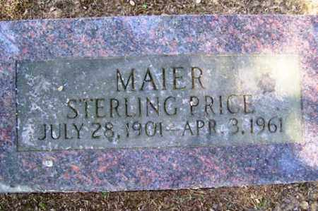 MAIER, STERLING PRICE - Franklin County, Arkansas | STERLING PRICE MAIER - Arkansas Gravestone Photos