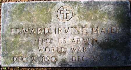 MAIER (VETERAN WWI), EDWARD IRVINE - Franklin County, Arkansas   EDWARD IRVINE MAIER (VETERAN WWI) - Arkansas Gravestone Photos