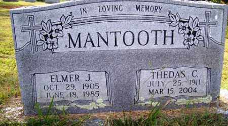 MCELROY MANTOOTH, THEDAS C - Franklin County, Arkansas | THEDAS C MCELROY MANTOOTH - Arkansas Gravestone Photos