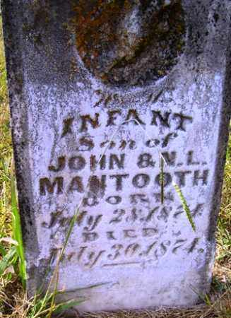 MANTOOTH, INFANT SON - Franklin County, Arkansas | INFANT SON MANTOOTH - Arkansas Gravestone Photos