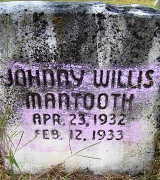 MANTOOTH, JOHNNY WILLIS - Franklin County, Arkansas   JOHNNY WILLIS MANTOOTH - Arkansas Gravestone Photos