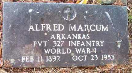 MARCUM  (VETERAN WWI), ALFRED - Franklin County, Arkansas | ALFRED MARCUM  (VETERAN WWI) - Arkansas Gravestone Photos